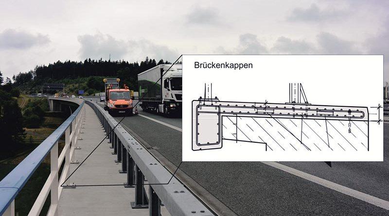 Brückenkappe an einer Autobahn. Foto: Christoph Dauberschmidt
