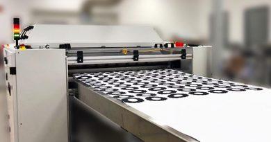 Laserdrucker beim Drucken von Zahnradlayern. Foto: mz Toner Technologies GmbH